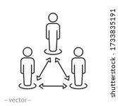 safety social distance  vector... | Shutterstock .eps vector #1733835191
