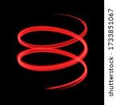 Red Luminous Spiral On Black....