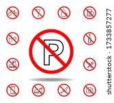 forbidden parking icon. set can ...