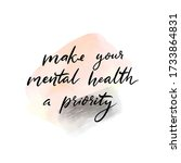 make your mental health a... | Shutterstock .eps vector #1733864831