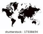 world map | Shutterstock . vector #17338654