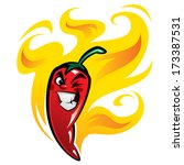red extremely hot mexican... | Shutterstock .eps vector #173387531