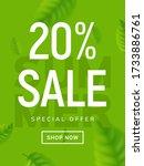 summer sale banner background.... | Shutterstock .eps vector #1733886761
