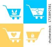 set of shopping cart  trolley...