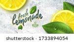 vector realistic lemon... | Shutterstock .eps vector #1733894054
