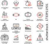 vector set of linear icons...   Shutterstock .eps vector #1733911931