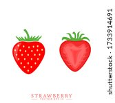 strawberry and half of...   Shutterstock .eps vector #1733914691