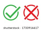 check cross mark. red and green ... | Shutterstock .eps vector #1733916617