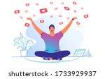 social media likes and hearts... | Shutterstock .eps vector #1733929937