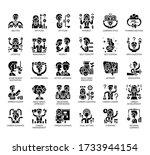 set of career advancement thin... | Shutterstock .eps vector #1733944154