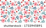 seamless pattern with creative... | Shutterstock .eps vector #1733945891
