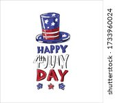 fourth of july independence day ... | Shutterstock .eps vector #1733960024