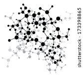 abstract molecules medical... | Shutterstock .eps vector #173398865