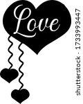 love text clip art design... | Shutterstock .eps vector #1733993447