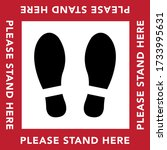 social distancing banner.... | Shutterstock .eps vector #1733995631