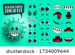 coronavirus emoji kit vector...   Shutterstock .eps vector #1734009644