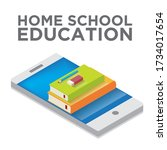 using technology to study using ... | Shutterstock .eps vector #1734017654
