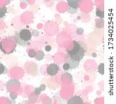 watercolor transparent stains... | Shutterstock .eps vector #1734025454