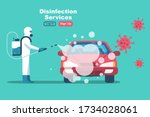 car disinfection services.... | Shutterstock .eps vector #1734028061