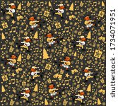 christmas seamless pattern with ...   Shutterstock .eps vector #1734071951