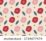 Simple Style Camellia Pattern...
