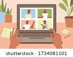vector illustration in simple... | Shutterstock .eps vector #1734081101