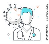 health care personal related... | Shutterstock .eps vector #1734092687