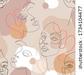 abstract woman portrait... | Shutterstock .eps vector #1734104477