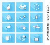 vector illustration concept of... | Shutterstock .eps vector #173411114