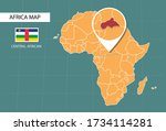 central african country map in  ... | Shutterstock .eps vector #1734114281