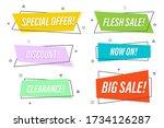 flat linear promotion ribbon...   Shutterstock .eps vector #1734126287