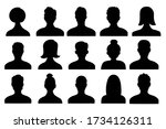 male and female head... | Shutterstock .eps vector #1734126311