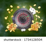 the casino roulette  surrounded ...   Shutterstock .eps vector #1734128504