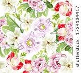 abstract elegance seamless...   Shutterstock . vector #1734134417