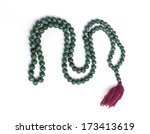 Necklace Made Of Green Beads...