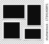 set of  vector photo frames...   Shutterstock .eps vector #1734140891