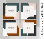 beautiful vector photo frame on ... | Shutterstock .eps vector #1734140894
