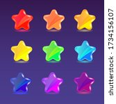 colored cartoon glossy stars....