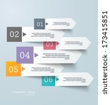infographics design template | Shutterstock .eps vector #173415851