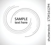 halftone dots in circle form.... | Shutterstock .eps vector #1734161294
