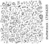 baby born concept. sketch... | Shutterstock . vector #173416205