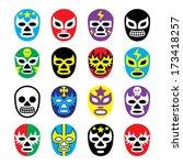 lucha libre  luchador  mexican... | Shutterstock .eps vector #173418257