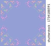 circular   of unicorns cartoon. ... | Shutterstock . vector #1734188591