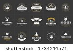 camping logos and badges... | Shutterstock .eps vector #1734214571