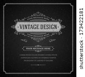 vintage design template. retro... | Shutterstock .eps vector #173422181