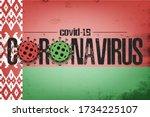 flag of belarus with... | Shutterstock .eps vector #1734225107