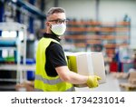Man Worker With Protective Mask ...