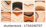 hand drawn vector set of... | Shutterstock .eps vector #1734240707