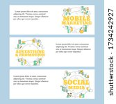 social media  adverting and... | Shutterstock .eps vector #1734242927