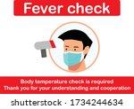 fever check vector graphic...   Shutterstock .eps vector #1734244634
